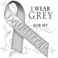 I wear grey for my daughter. May is brain tumor  awareness month.