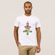 Beautiful Christmas Tree Made From Christmas Gift T-Shirt - merry christmas diy xmas present gift idea family holidays