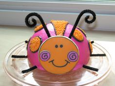 Georgia's ladybug smash cake - I made this cake for my friend's daughter's 1st bday.  This is her smash cake,  I have a caterpillar cake to go with it, I will post it tomorrow when I put the finishing touches on it.  The cake is chocolate with buttercream icing. The cookie is sugar with royal icing.  First time using the Viva paper towel  method for smoothing - fantastic!