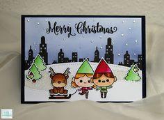 LB Card Creations: Christmas Cards 2016 #2 | Mama Elephant