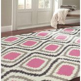 Found it at AllModern - Mosca Hand-Woven Pink Area Rug