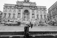A Beautiful and Romantic Honeymoon Photo Shoot from the Trevi fountain to the Colosseum. Image by the Andrea Matone Photography studio in Rome Italy Italy Honeymoon, Romantic Honeymoon, Honeymoon Destinations, Rome Photography, White Photography, White Couple, Trevi Fountain, Roman Holiday, Future Travel