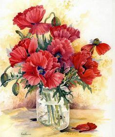 Poppy Garden Wild Flowers in Kitchen