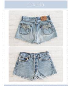 DYE denim shorts _ Mi armario en ruinas