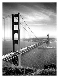 golden gate bridge | San Francisco, Golden Gate Bridge, c.1937 reproduction procédé ...