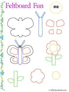 Felt board - butterfly & flower