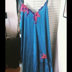 Sexy Long Teal Night Gown This is a sexy nighty indeed. They're a XL but runs a little small. I would say a loose medium and a perfect large. Ventura Other