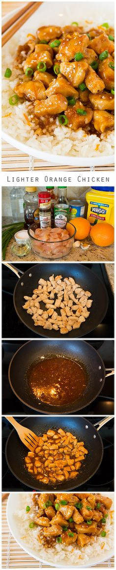 Lighter Orange Chicken - Everyone LOVED this Chinese orange chicken! Healthier than take-out but equally as good!