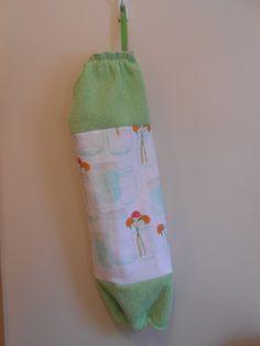 Plastic Bag Holder  Grocery Bag Storage  by CrochetandOrnaments