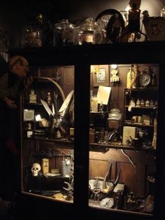 Illuminated Cupboard by   Gothic Rose Antiques & Curiosities