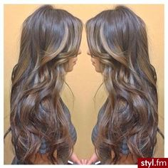 Love this #hair the #color and the #highlights wish I had the length too lol