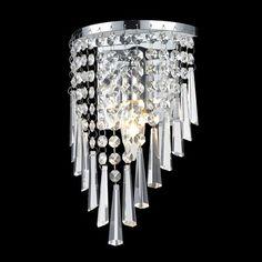 Z-Lite 868CH-1S Tango 1 Light Crystal Vanity Light