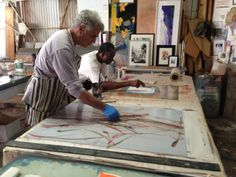 Tom Lieber at work in his studio