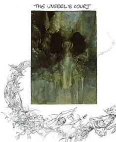 Unseelie Court by Alan Lee for Faeries.