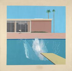 David Hockney. A Bigger Splash 1967. Acrylic on canvas.