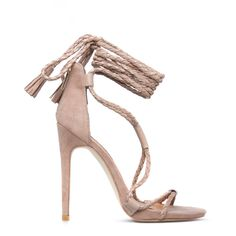 The laced-up heel is the must-have style of the year. Go for Janis by Izabella Rue to get in on the trend with her woven laces and pretty tassel accents.