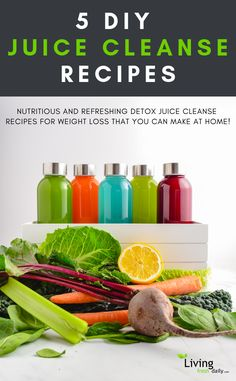 Juicing For Weight Loss: 5 Detox Juice Cleanse Recipes To Try At Home! - keto juicing - 5 DIY detox juice cleanse recipes for weight loss! Perfect for a 3 day cleanse that you can make at - Detox Juice Cleanse, Smoothie Detox, Juice Diet, Detox Juices, Juice Cleanses, Smoothie King, Health Cleanse, Fruit Juice, At Home Juice Cleanse
