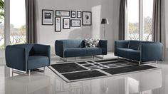 Canapé 3 places Kitee en tissu pieds métal pas cher prix Canapé Mobilier Moss 669.00 €