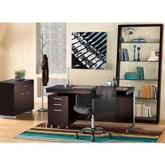light floors, dark furniture