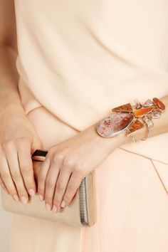 Melissa Joy Manning | 14-karat gold multi-stone cuff | NET-A-PORTER.COM