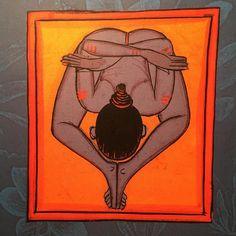 Kurmasana Yoga History, Indian Yoga, Yoga Images, Chakra Art, Shiva Art, Islamic Paintings, Tibetan Art, India Art, Yoga Art