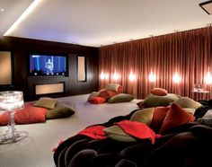 home theatre... love the floor pillows