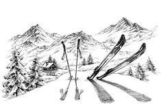 Mountains landscape with ski sketch vector 03 - https://www.welovesolo.com/mountains-landscape-with-ski-sketch-vector-03/?utm_source=PN&utm_medium=welovesolo59%40gmail.com&utm_campaign=SNAP%2Bfrom%2BWeLoveSoLo