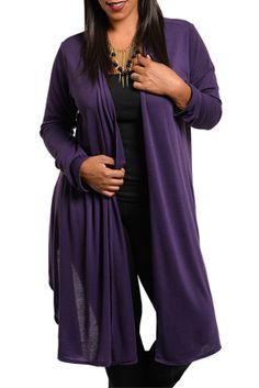 Plus Size Trendy Sheer Open Front Long Sleeve Cardigan