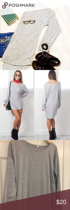 NWOT grey tunic Brand new heather grey tunic. Perfect for spring and summer. Tops Tunics