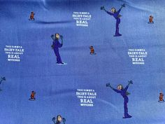 Roald Dahl The Witches Fabric, Purple Witches Fabric, Nursery Fabric, Halloween Nursery Fabric, Nursery Curtains, Quilting Fabric Uk, Real Witches, Purple Fabric, Roald Dahl, Fabric Crafts, Book Worms