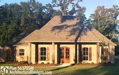Gracious Southern House Plan - 56370SM | Acadian, European, French Country, Southern, Photo Gallery, 1st Floor Master Suite, Butler Walk-in Pantry, Den-Office-Library-Study, Jack & Jill Bath, PDF, Corner Lot | Architectural Designs