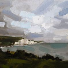 Young Devon artist, specialising in horizons and figure paintings, in any media type Impressionist Landscape, Abstract Landscape Painting, Seascape Paintings, Landscape Art, Landscape Paintings, Abstract Art, Abstract Painters, Acrylic Paintings, Acrylic Art