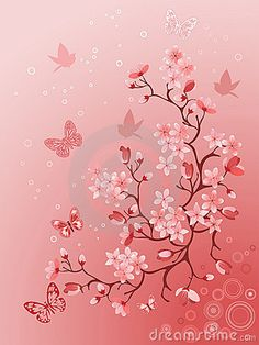 Japanese cherry tree for your design