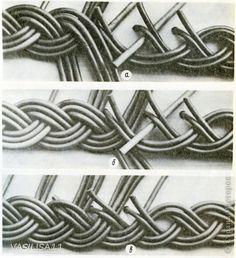 Поделка изделие Плетение Косичка из трех пар с тремя дополнительными трубочками; Бумага газетная фото 10