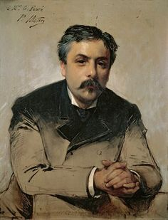 Portrait of the composer Gabriel Fauré, c. 1870's by Paul Mathey (French 1844-1929)
