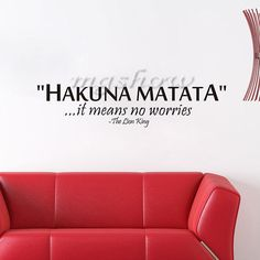 Elevenfy | Hakuna Matata Wall Sticker Art Quote  Decors Mural Removable Vinyl Home Decals