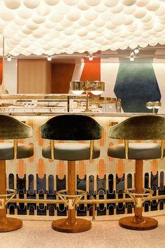 Pierre Hermé + L'Occitane. A boutique inspired by Cézanne and nature - Domus Design Bar Restaurant, House Restaurant, Restaurant Furniture, Top Interior Designers, Modern Interior Design, Cafe Bar, Home Bar Areas, Architecture Restaurant, Architecture Art