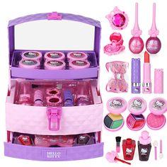 toy for girls Barbie Girl Toy Suitcase Makeup Kids Cosmetics Princess Makeup Box Birthday Gift Hello Kitty Makeup Case - Folding Disney Princess Makeup, Princess Toys, Makeup Kit For Kids, Kids Makeup, Toddler Girl Gifts, Tween Girl Gifts, Little Girl Toys, Toys For Girls, Barbie Birthday