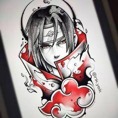 Otaku Anime, Anime Naruto, Fan Art Naruto, Naruto Vs Sasuke, Naruto Shippuden Anime, Itachi Uchiha, Manga Anime, Naruto Sketch, Naruto Drawings