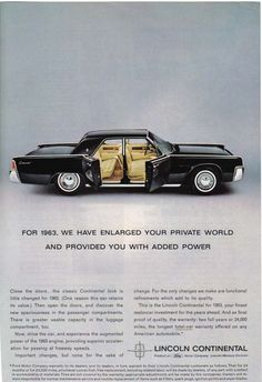Lincoln Continental. Suicide doors