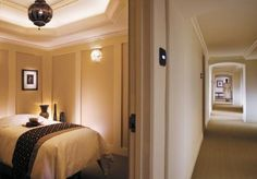 luxurious spa room walls and ceiling