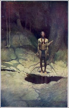 """The Indian in his Solitude,"" N.C. Wyeth"