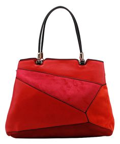 This MKF Collection Red Patchwork Satchel by MKF Collection is perfect! #zulilyfinds