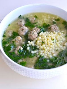 I combined elements from several different Italian Wedding Soup recipes to create our all-time favorite version! I combined elements from several different Italian Wedding Soup recipes to create our all-time favorite version! Italian Wedding Soup Recipe, Italian Soup Recipes, Wedding Recipe, Sicilian Recipes, Sicilian Food, Cooking Recipes, Healthy Recipes, Easy Recipes, Beef Recipes