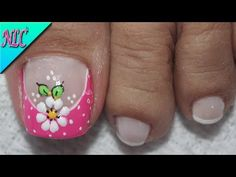 Toe Nail Flower Designs, Nail Art Designs, Dope Nails, Flower Nails, Manicure And Pedicure, Lily, Hair Beauty, Videos, Wedding Accessories