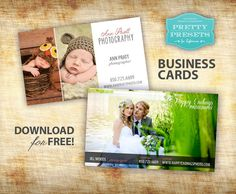 Free Photographer Business Cards   Pretty Presets for Lightroom