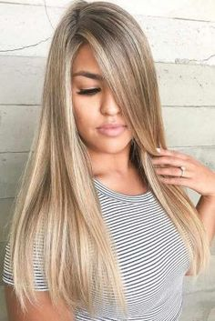 See our collection of ideas for dark blonde hair color which is drop dead popula. - The Right Hair Styles Sandy Blonde Hair, Dark Blonde Hair Color, Cool Blonde Hair, Hair Color And Cut, Cool Hair Color, Dark Blonde Hair With Highlights, Balayage Highlights, Blonde For Dark Skin, Light Blonde