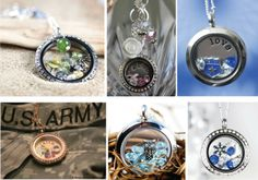 origami owl jewelry examples | Here are some examples of great combos that tell a personal story: