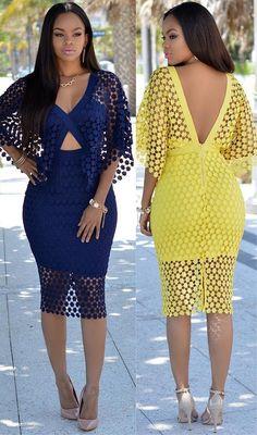 Ecstasy Models — Yellow or Navy-blue? Elixr Dress...