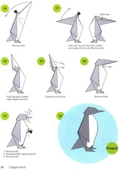 Origami penguin page 3 Dover Publications